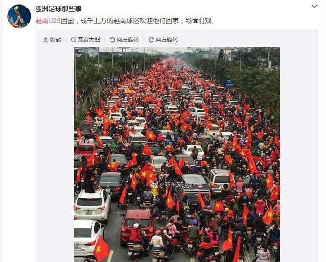 Người dân Trung Quốc lên tiếng chúc mừng với thành công của U23 Việt Nam