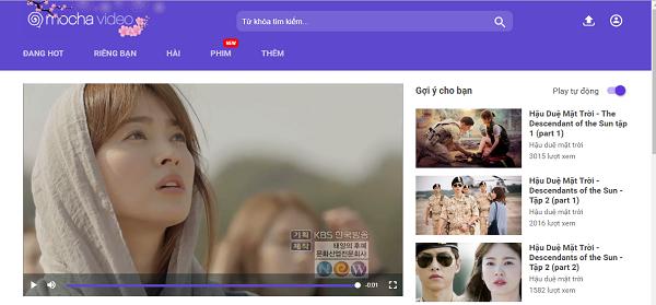 Mocha video ngày càng thu hút nhiều khán giả với những bộ phim 'hot' chất lượng cao.