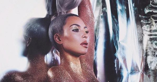 Kim Kardashian gợi cảm trong một chiến dịch quảng cáo của KKW.