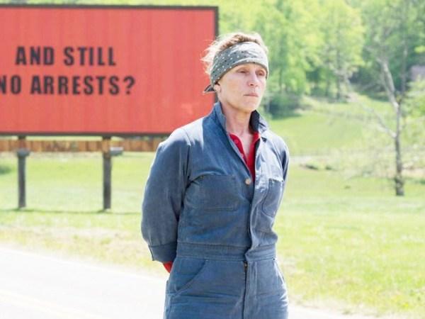 Vai diễn bà mẹ gai góc trongThree Billboards outside Ebbing, Missouri giúpFrances McDormand nhận được tượng vàng Oscar