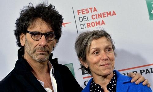 Frances McDormand và chồng.
