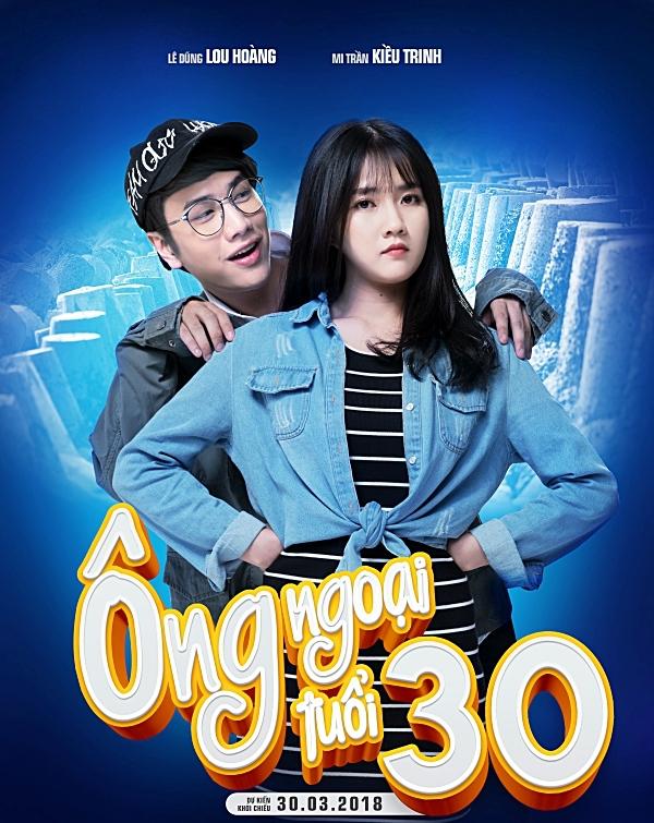 Poster nhân vật của cặp đôi Lê Dũng (Lou Hoàng), Mi Trần (Kiều Trinh)