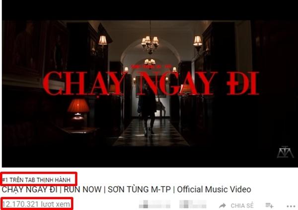Lập tức đứng Top 1 thịnh hành trên Youtube và đạt hơn 12 triệu view trong chưa đến 24h
