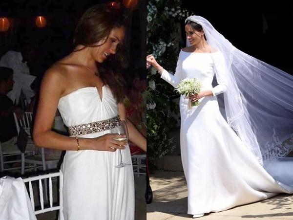 Sự chênh lệch rõ ràng giữa hai chiếc váy cưới