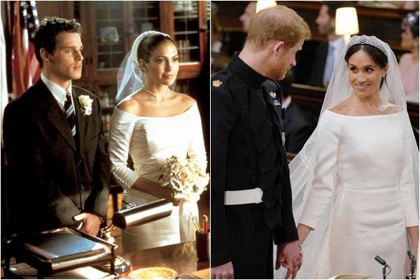 Phát hiện thú vị: Váy cưới của Công nương Meghan Markle giống hệt chiếc váy Jennifer Lopez mặc cách đây 17 năm 1