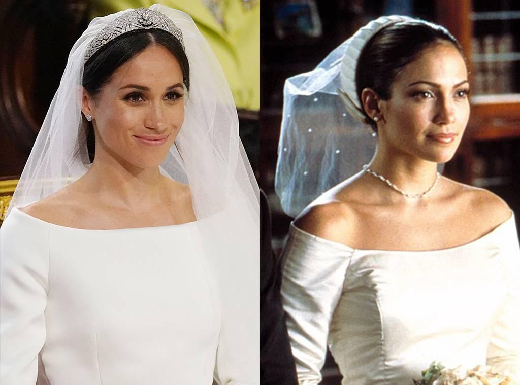 Phát hiện thú vị: Váy cưới của Công nương Meghan Markle giống hệt chiếc váy Jennifer Lopez mặc cách đây 17 năm 2