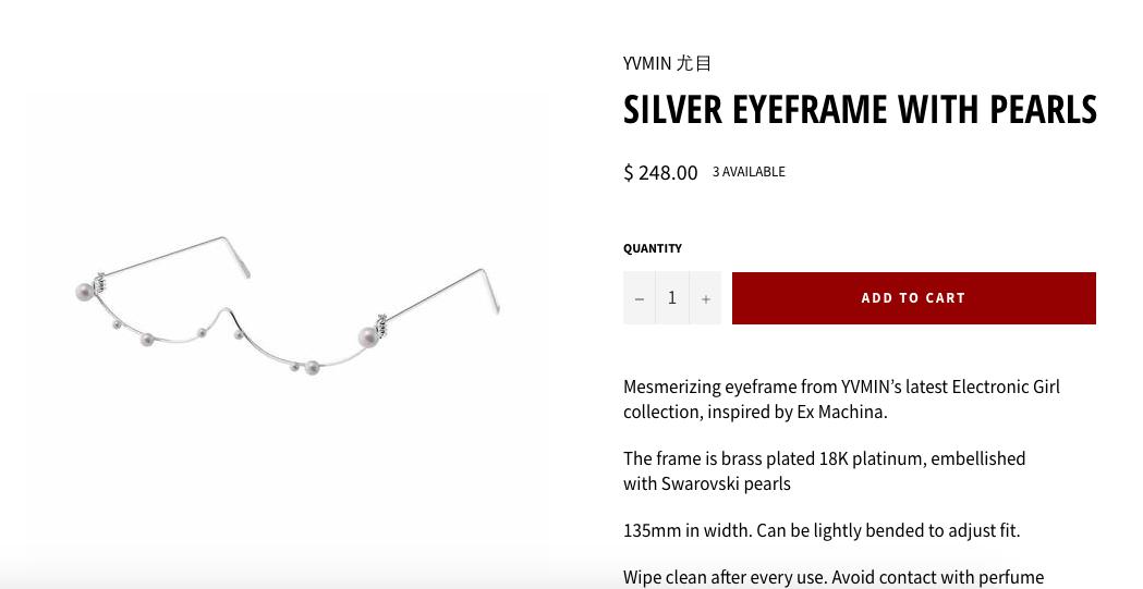Chiếc kính độc lạ này có giá bán lên đến 5,6 triệu đồng