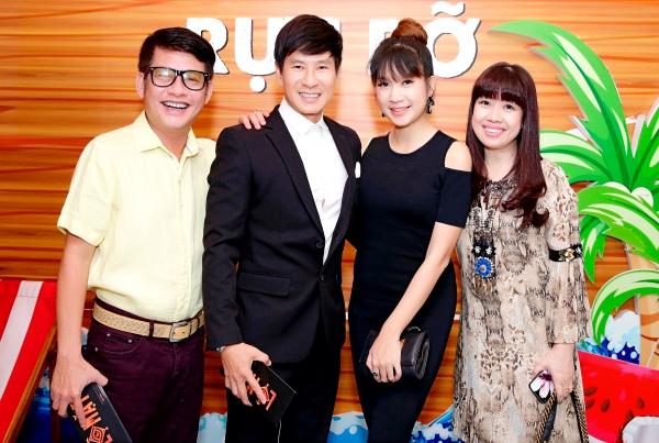 Vợ chồng Lý Hải - Minh Hà tình tứ bên nhau tại sự kiện ra mắt phim Lộ Mặt 4