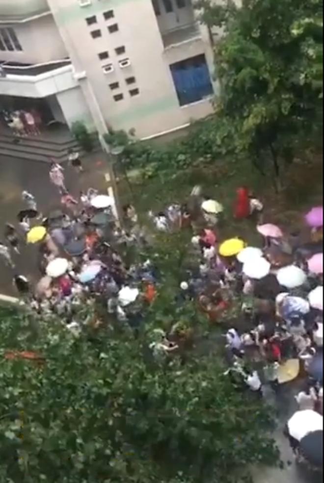 Nữ sinh Trung Quốc cùng nhau giải cứu thầy giáo bị cây đổ đè ngang người 2
