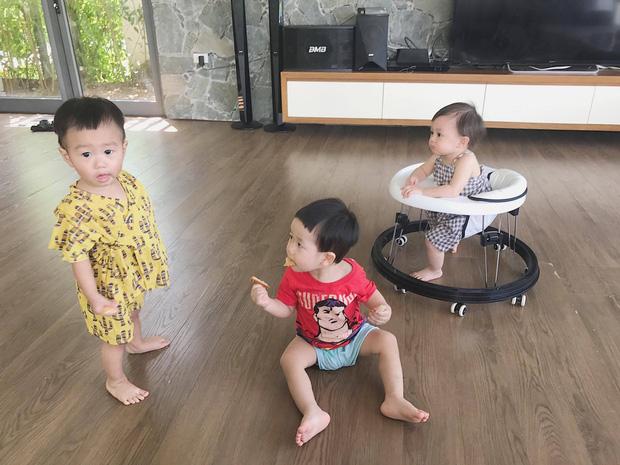 Xoài-Cam-Đậu la 3 nhóc tì Hà thành được săn đón nhất MXH.