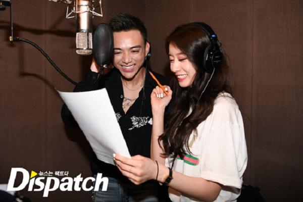 Dispatch tung loạt ảnh hậu trường thu âm vô cùng thân thiết của Soobin Hoàng Sơn và Jiyeon 0