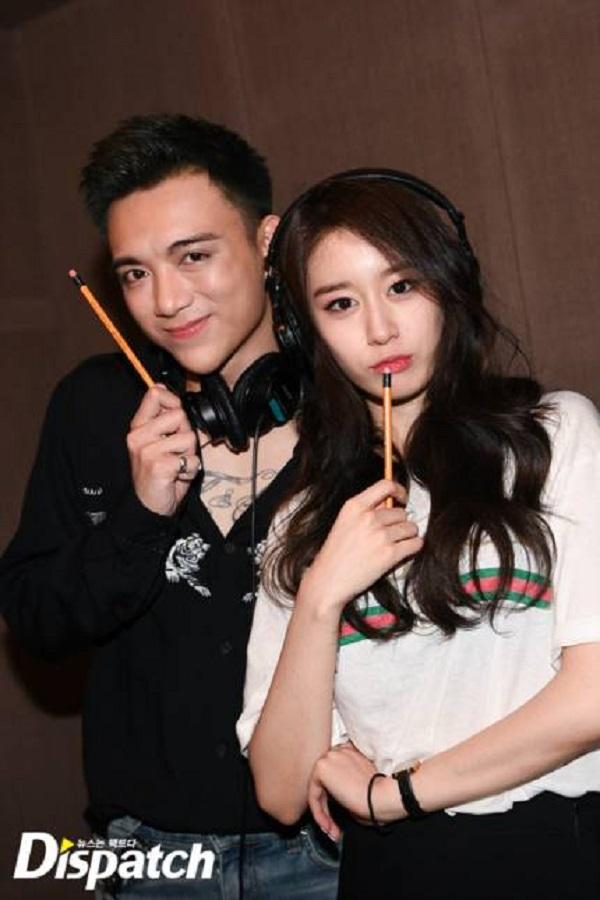 Dispatch tung loạt ảnh hậu trường thu âm vô cùng thân thiết của Soobin Hoàng Sơn và Jiyeon 1