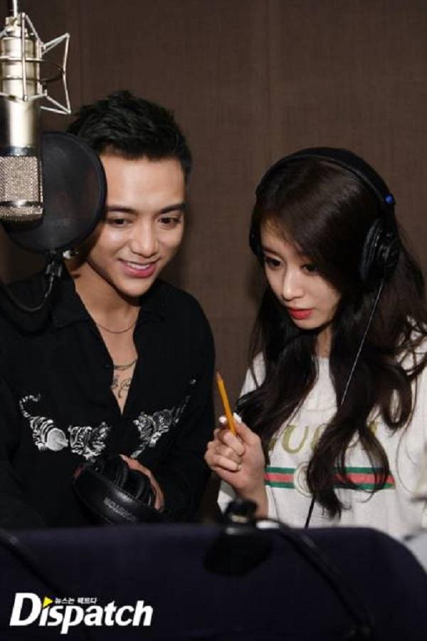 Dispatch tung loạt ảnh hậu trường thu âm vô cùng thân thiết của Soobin Hoàng Sơn và Jiyeon 8