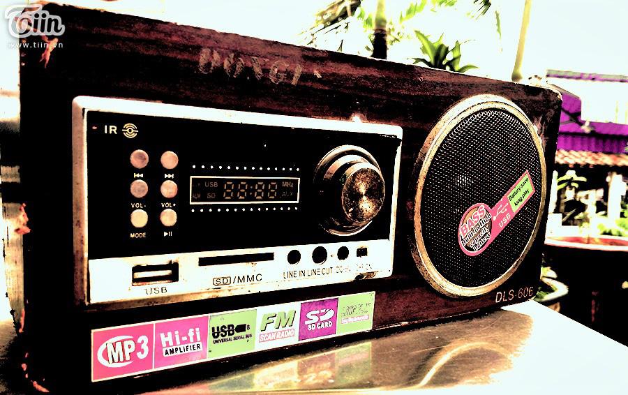 Chiếc radio cũ - nơi phát đi những giai điệu cải lương.