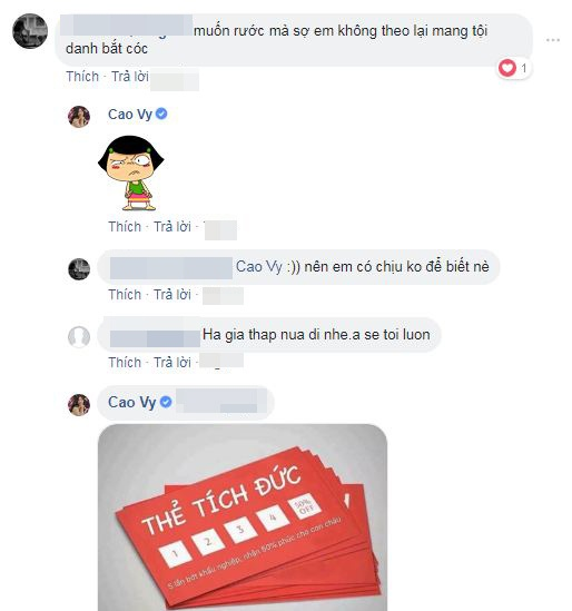 MC Cao Vy mở lại Facebook, tặng 'thẻ tích đức' cho những người xỉa xói, châm chọc mình 4