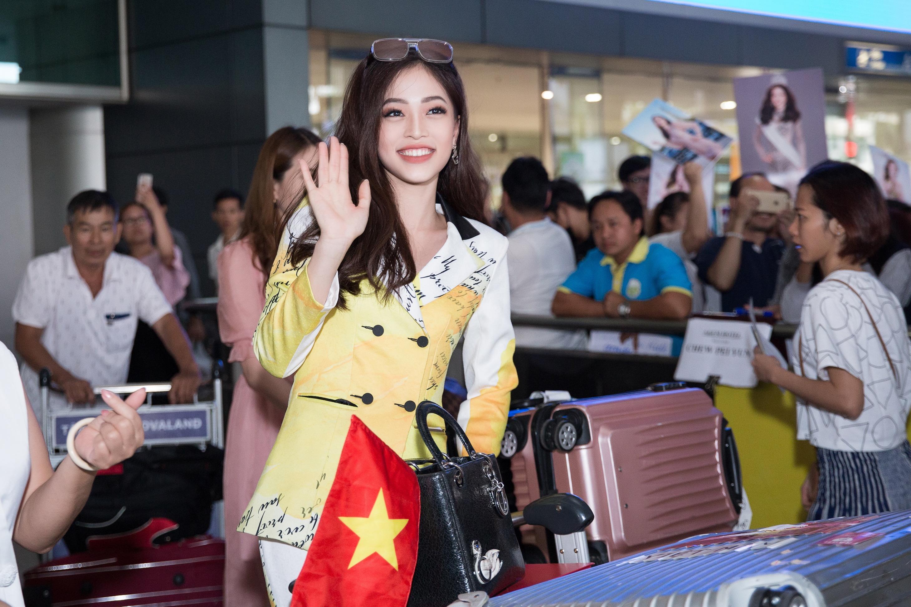 Hoa hậu Tiểu Vy ra tận sân bay đón Phương Nga trở về nước sau hành trình tại Miss Grand International 2018 0