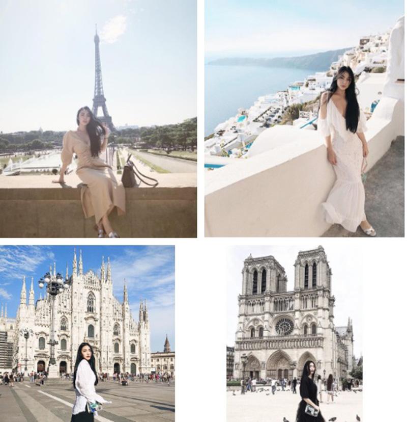 Cô nàng liên tục có những chuyến du lịch khắp nơi trên thế giới