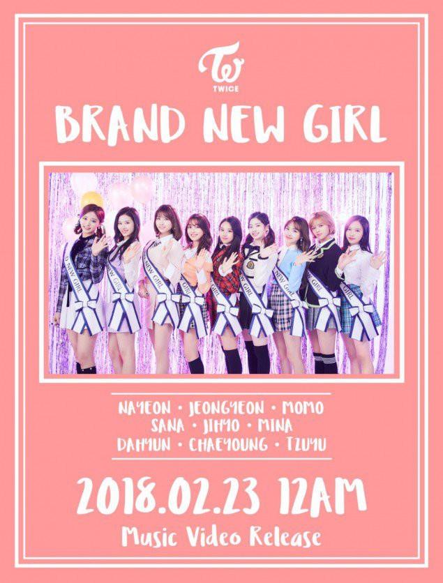 HÌnh ảnh nhá hàng cho MVBrand new girl được phát hành ở thị trường Nhật của 9 cô gái.