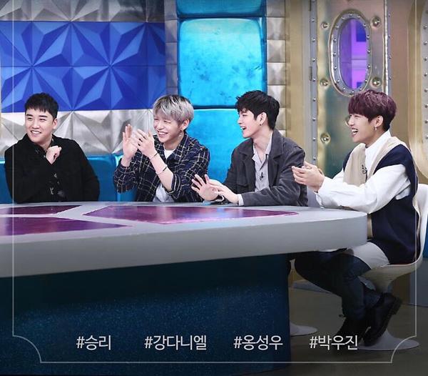 Seungri tham gia Radio Star cùng 3thành viên nhóm nhạc Wanna One: Kang Daniel, OngSeongwoo, Park Woo Jin