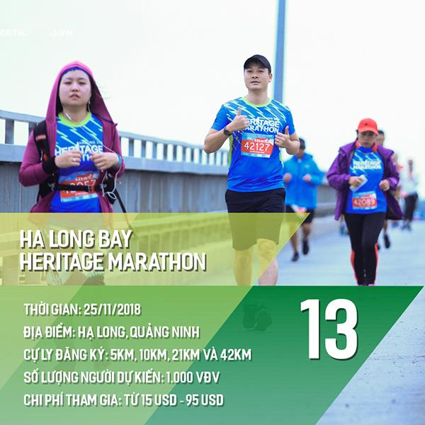 16 giải chạy bộ năm 2018 các Runners nhất định phải một lần ghi danh 12