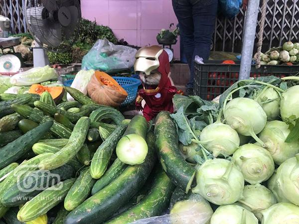 Iron Man tên Chó biến hình để đi bán rau