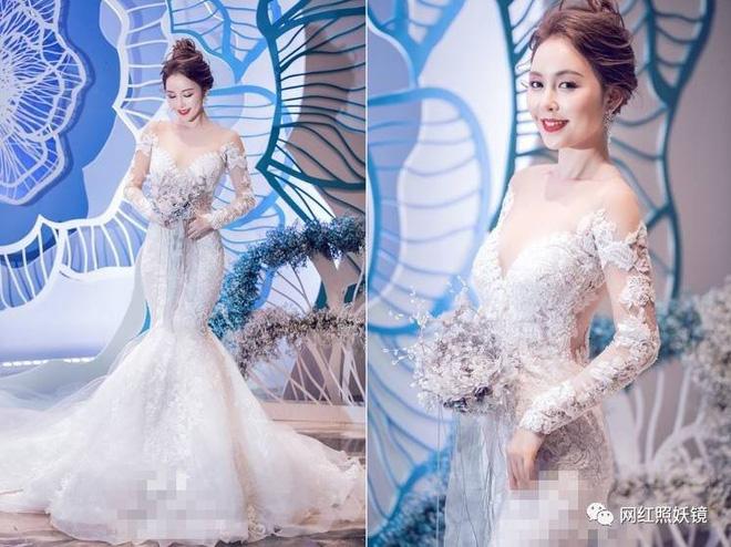 Dư Tiêu Tiêu gây sốt với vẻ ngoài xinh đẹp, lộng lẫy trong chiếc váy cưới trắng tinh khôi.