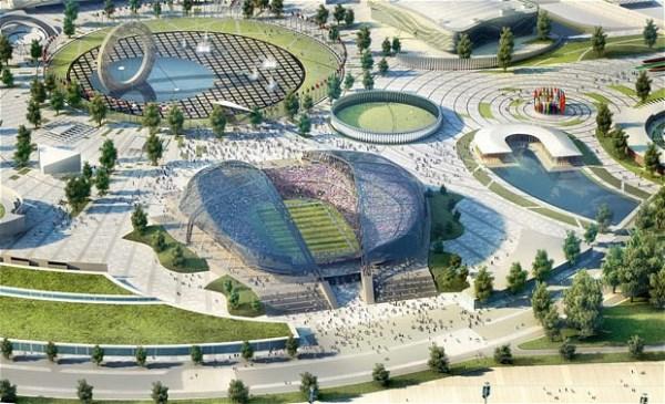 Sân vận động Sochi, nơi diễn ra World Cup. Ảnh Telegraph.
