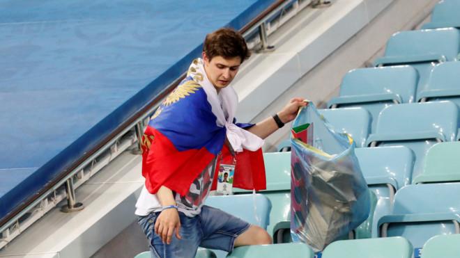 Hình ảnh đẹp của CĐV nước chủ nhà World Cup.