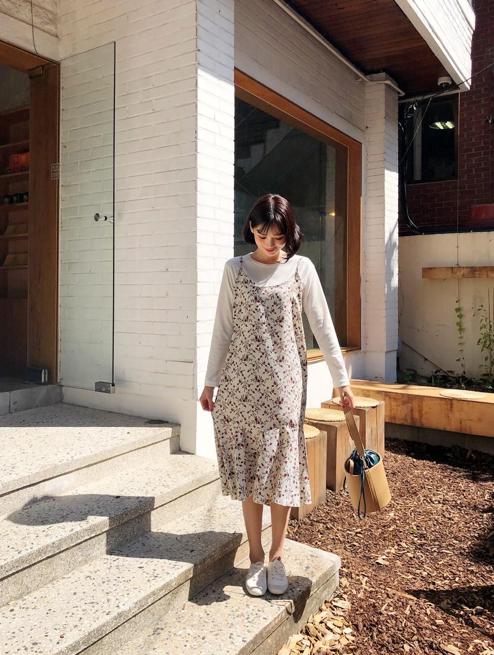 Đừng vội cất những chiếc váy hai dây bởi các nàng có thể diện được muôn kiểu tuyệt xinh trong tiết thu se lạnh 3
