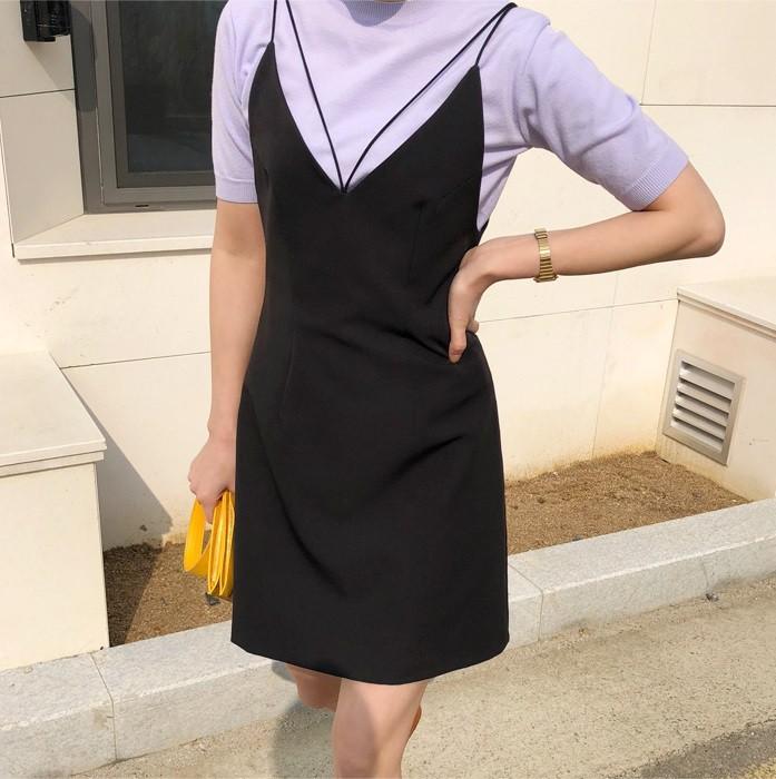 Đừng vội cất những chiếc váy hai dây bởi các nàng có thể diện được muôn kiểu tuyệt xinh trong tiết thu se lạnh 8