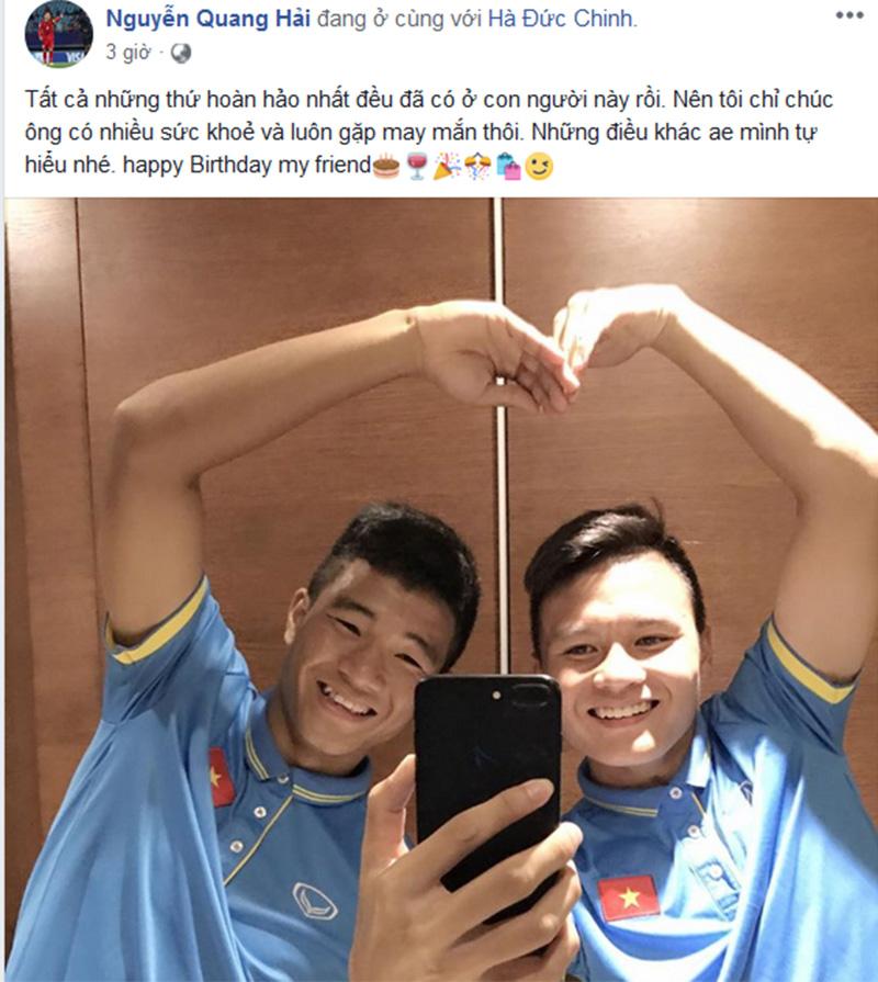 Tiến Dũng đăng loạt ảnh tình tứ chúc mừng sinh nhật Đức Chinh, fans lại rần rần gán ghép 8