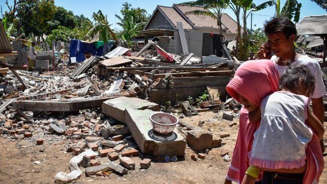 Một loạt trận động đất xảy ra trong thời gian gần đây khiến Indonesia thiệt hại nghiêm trọng về người và của. Ảnh: News.com.au