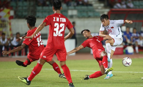 Việt Nam - Myanmar: Cả hai đội kết thúc trận đấu với tỷ số 0 - 0 0