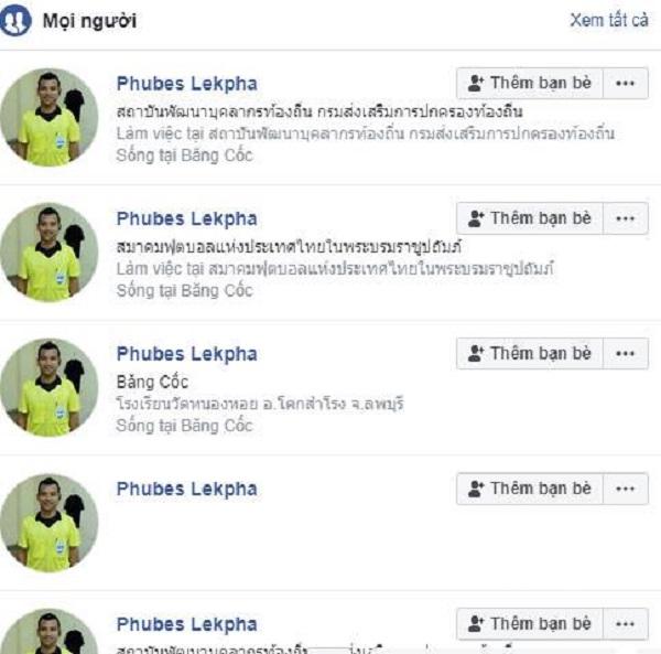 Rất nhiều tài khoản nick ảo của Phubes Lekpha mọc lên như nấm chỉ sau một đêm.