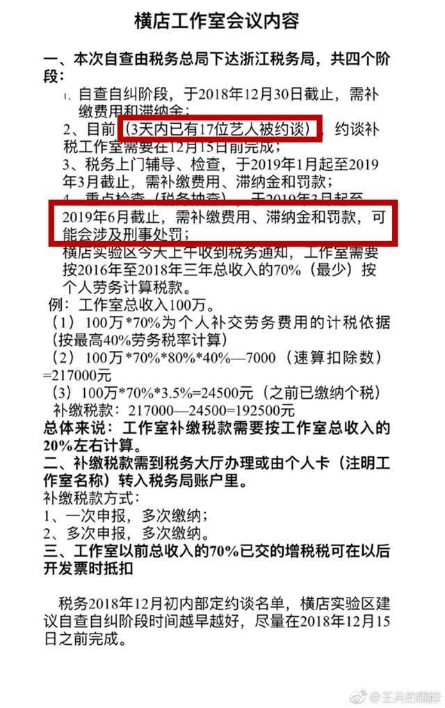 Vương Binh đã bất ngờ đăng tải những thông tin mới nhất về tình hình của giới giải trí sau scandal trốn thuế của Phạm Băng Băng.