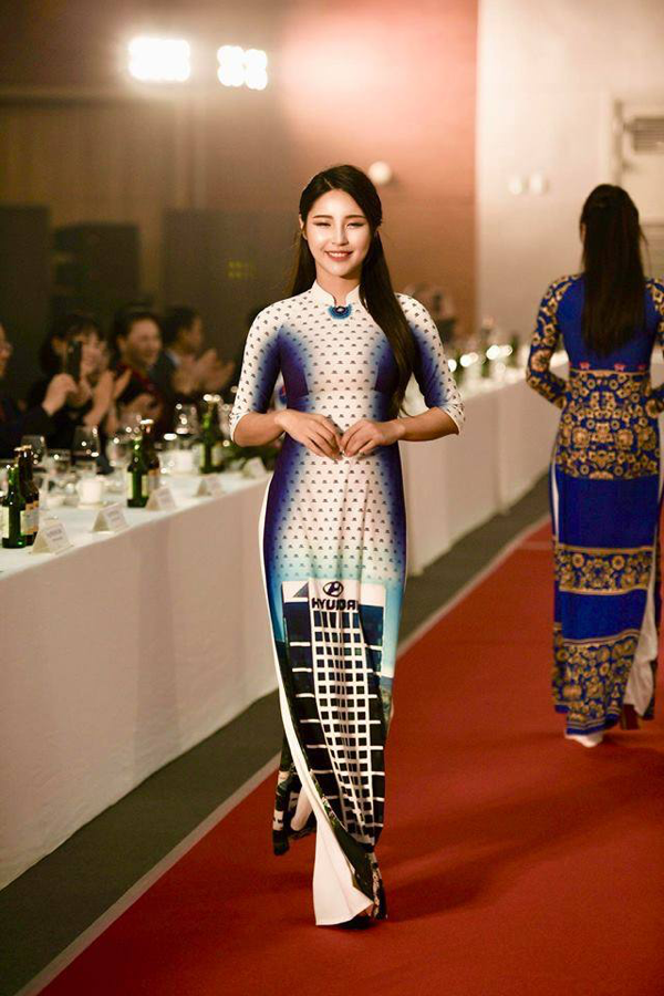 'Quỳnh búp bê' tái xuất sàn catwalk, mở màn show diễn áo dài của NTK Đỗ Trịnh Hoài Nam tại Hàn Quốc 7
