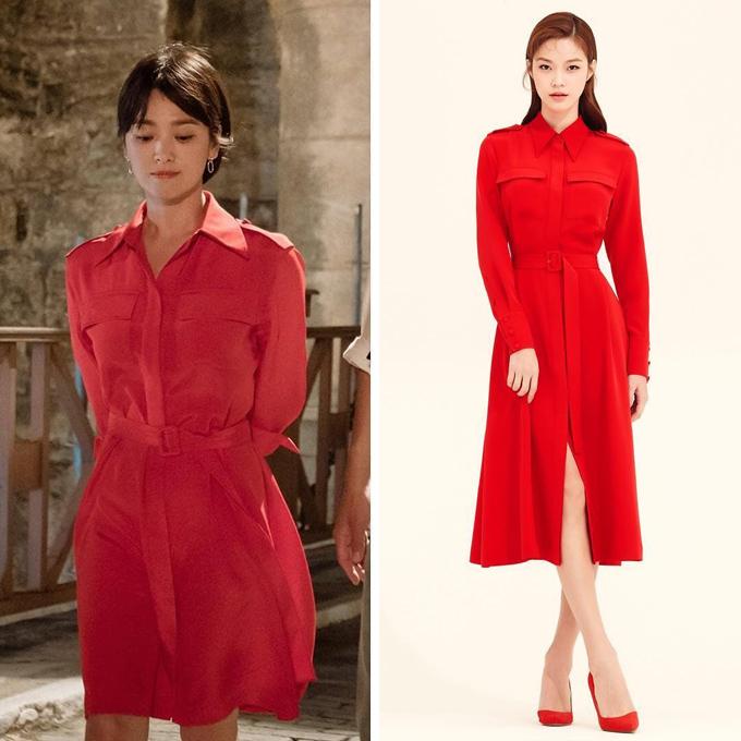Chiếc đầm sơ mi đẹp mắt xuất hiện trong tập đầu tiên đến từ thương hiệu thời trang Avouavou có giá khoảng 18,5 triệu đồng