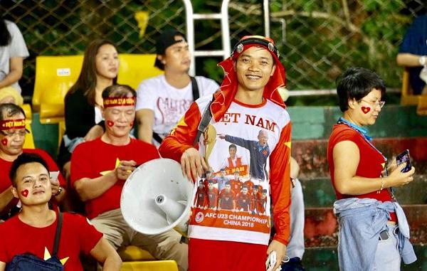 Anh Duy là một fan hâm mộ ruột của đội tuyển bóng đá Việt Nam từ rất lâu.