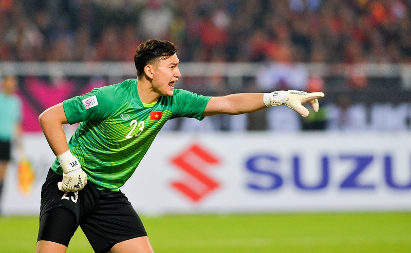 Văn Lâm đã thể hiện khả năng bắt bóng xuất sắc trong suốt 8 trận đấu mùa giải AFF Cup.