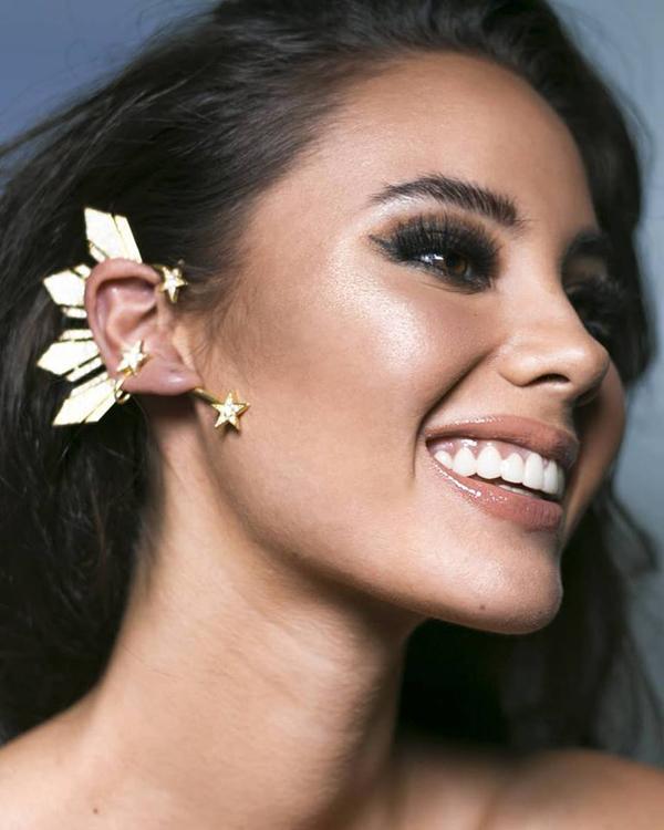 Tân Hoa hậu Hoàn vũ dùng trang sức tự thiết kế trên đấu trường nhan sắc quốc tế 3