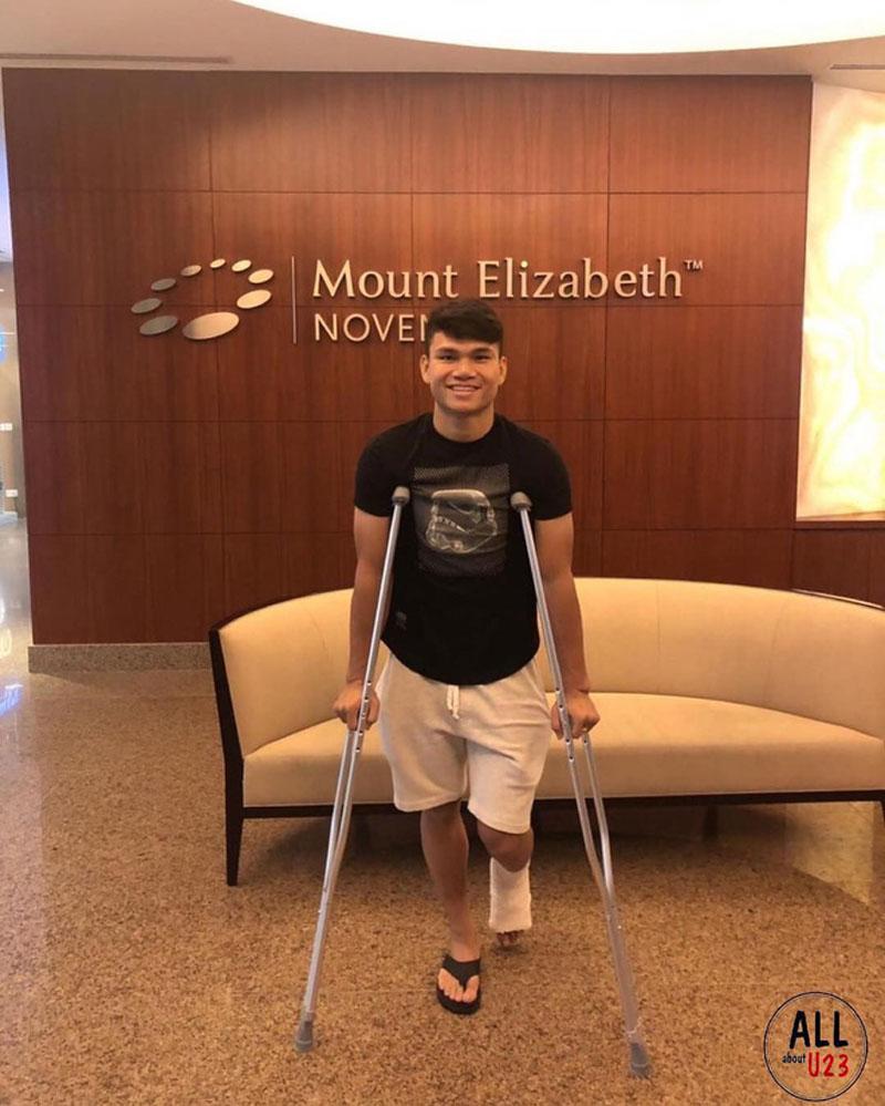 Xuân Mạnh gặp chấn thương nên sẽvắng mặt tại giải Asian Cup 2019.
