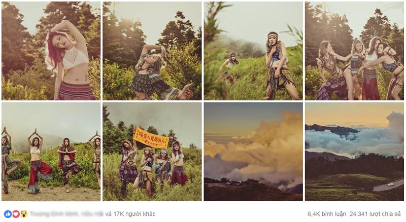 Bộ ảnh 4 cô gái Đài Loan được đăng tải trên fanpage nước ngoài và nhận được nhiều sự chú ý.