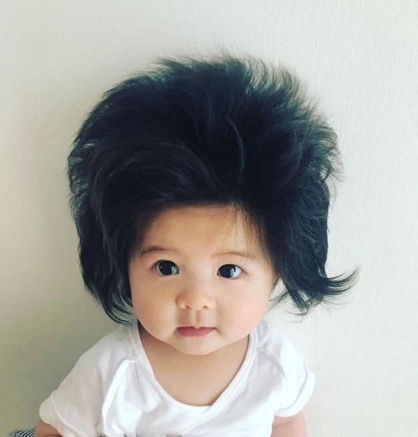 Những em bé khuấy đảo cộng đồng mạng thế giới năm 2018 với mái tóc khác lạ 3