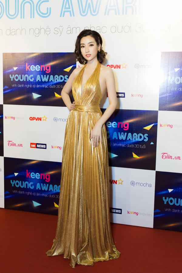 Hình ảnh Đỗ Mỹ Linh chụp ở thảm đỏKeeng Young Awards 2018