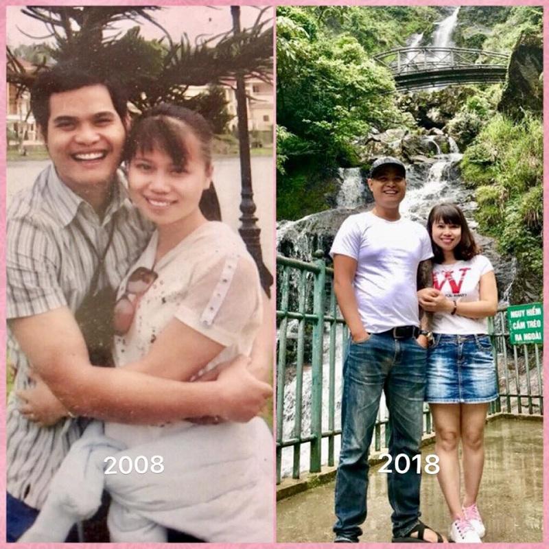 Trải qua 10 năm, các cặp đôi ngày càng thấu hiểu và yêu thương nhau nhiều hơn. Ảnh FB Phạm Hoàng Đăng Khôi.