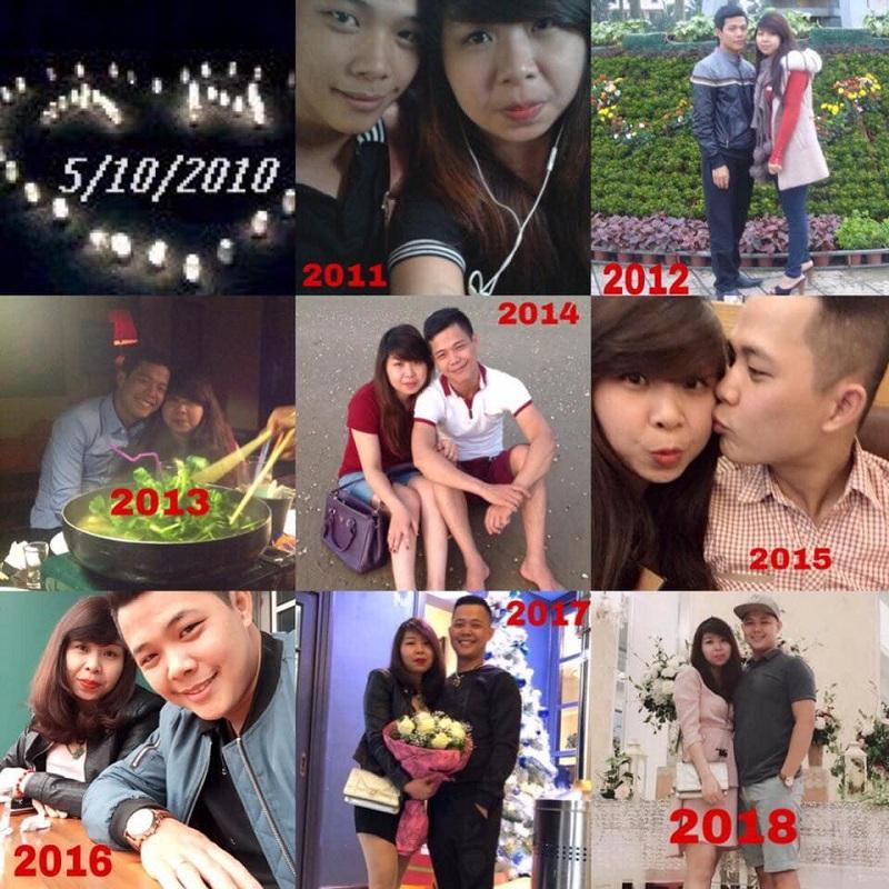 Cặp đôi này năm nàocũng chụp ảnh kỉ niệm để chứng minh tình yêu nồng cháy dành cho nhau. Ảnh FBAnh Nguyễn.
