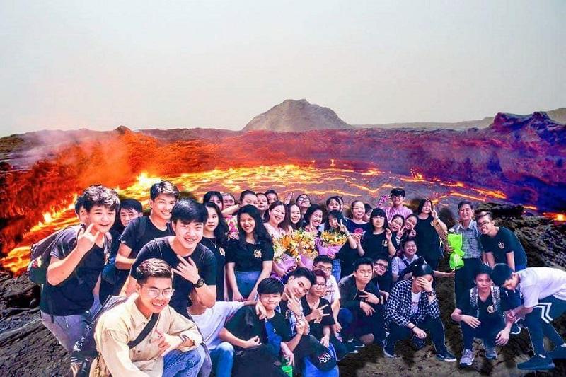 Thậm chí bạn có thể check-in với núi lửa mà không sợ bị bỏng