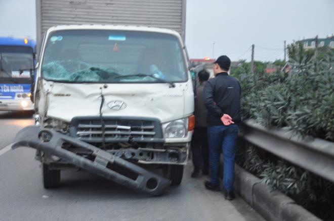 Chiếc xe tải gây tai nạn.