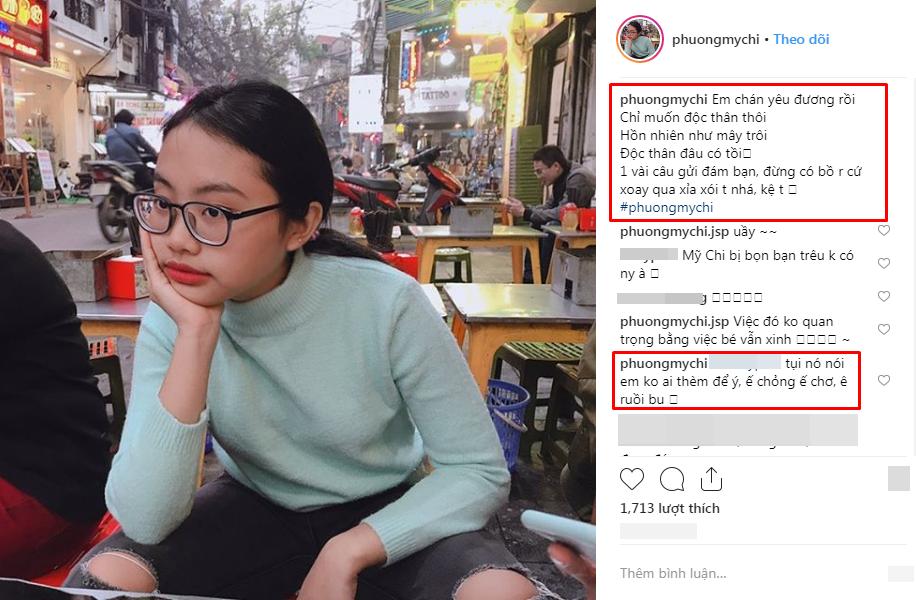 Chia sẻ của Phương Mỹ Chi trên Instagram khiến nhiều người bất ngờ.