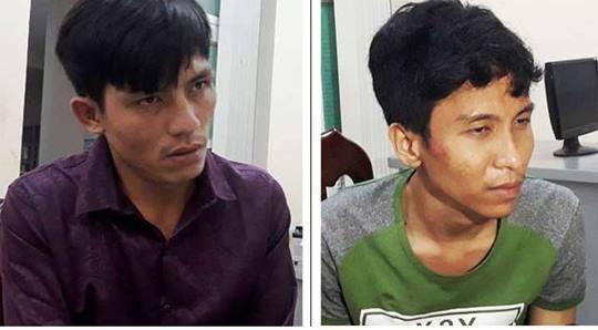 Hai đối tượng vừa bị công an bắt giữ (Ảnh: Công an tỉnh Đồng Nai)